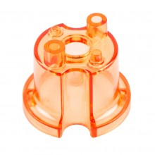 Pop bumper body, orange transparent