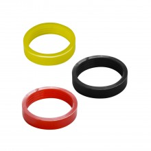 Silicone flipper rubber - Slim size - Yellow