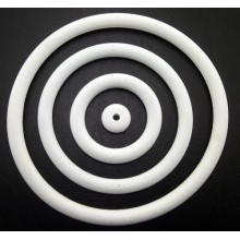 "Rubber mini-post 3/8"" - White"