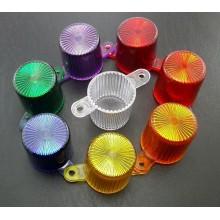 Dome flasher screw, transparent, violet