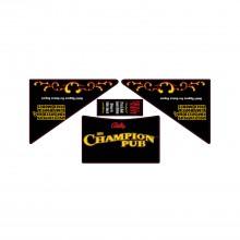The Champion Pub - Apron Decal Set