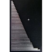 "Hex spacer 1/4"" x 2-1/2"" (63,5mm) , 254-5008-16"