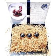 Confezione regalo - 3 palline - Acciaio