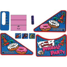 The Simpsons Pinball Party Decal Set
