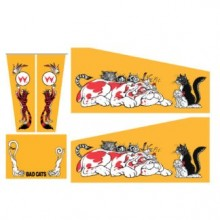 Bad Cats Cabinet Decal Set