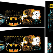 Batman DE Cabinet Decal Set